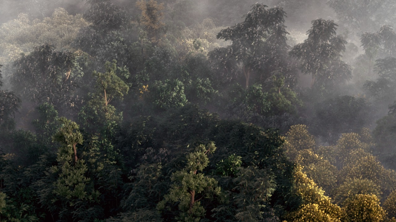 Building a Realistic Aerial Forest Scene in 3ds Max