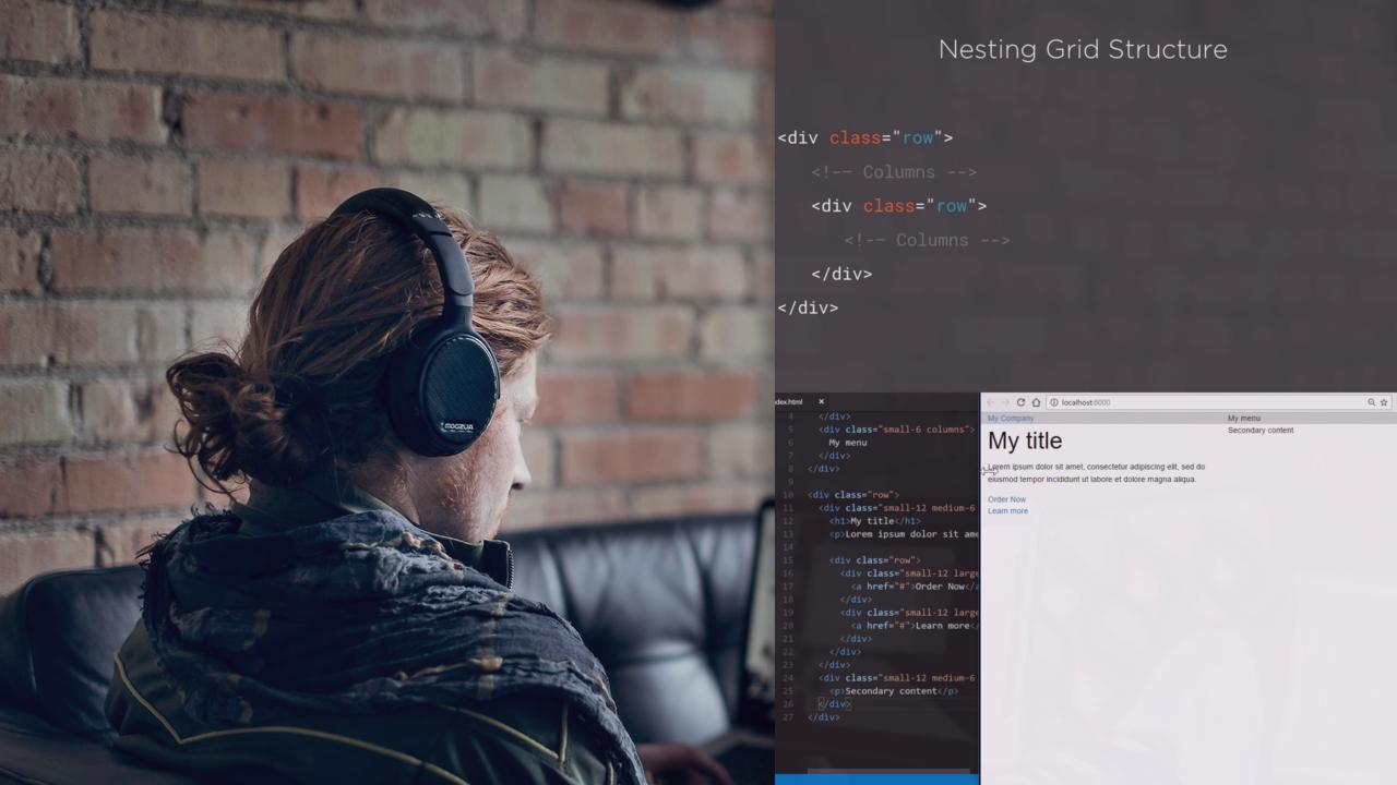 Building Websites with Foundation 6   Pluralsight