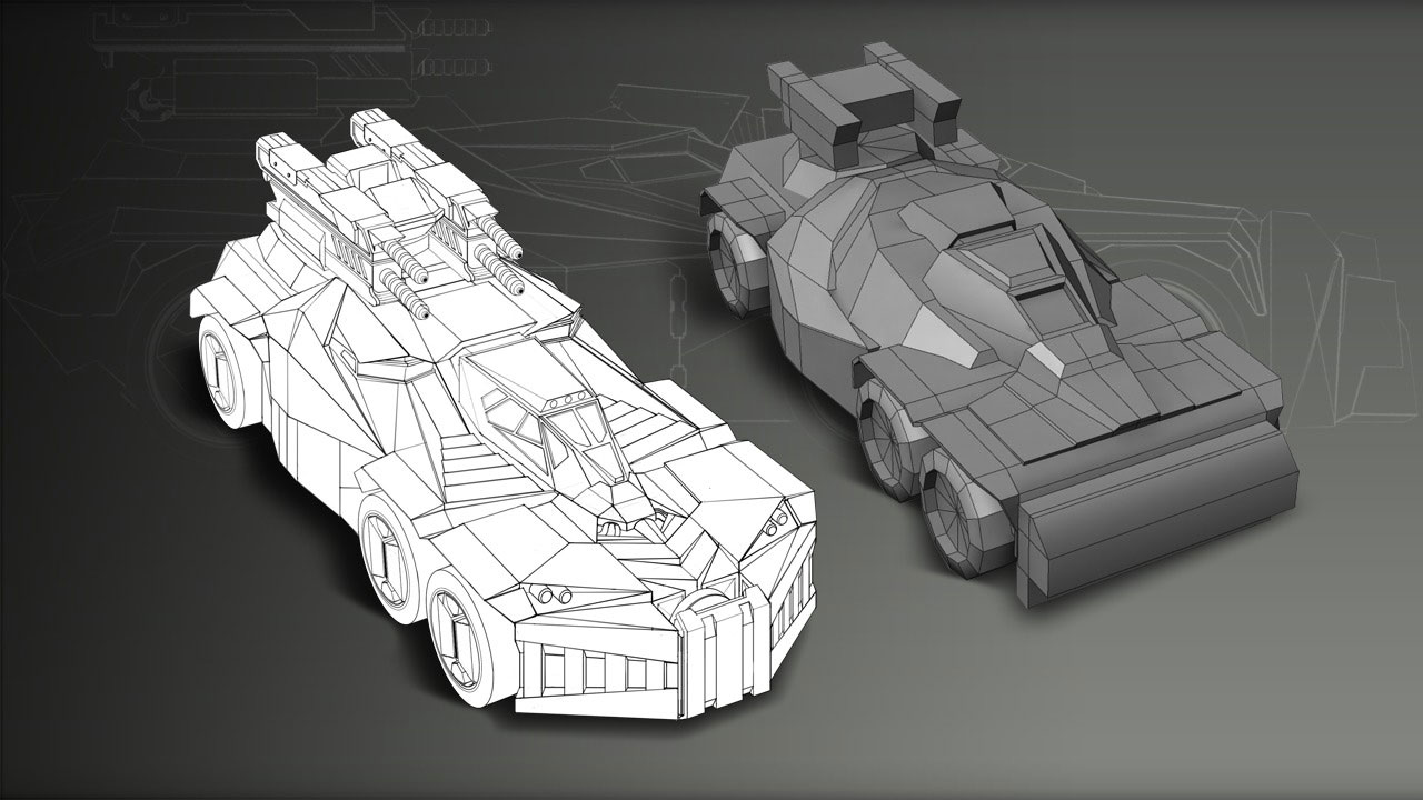 Creating a concept vehicle from a 3d sketch in photoshop pluralsight