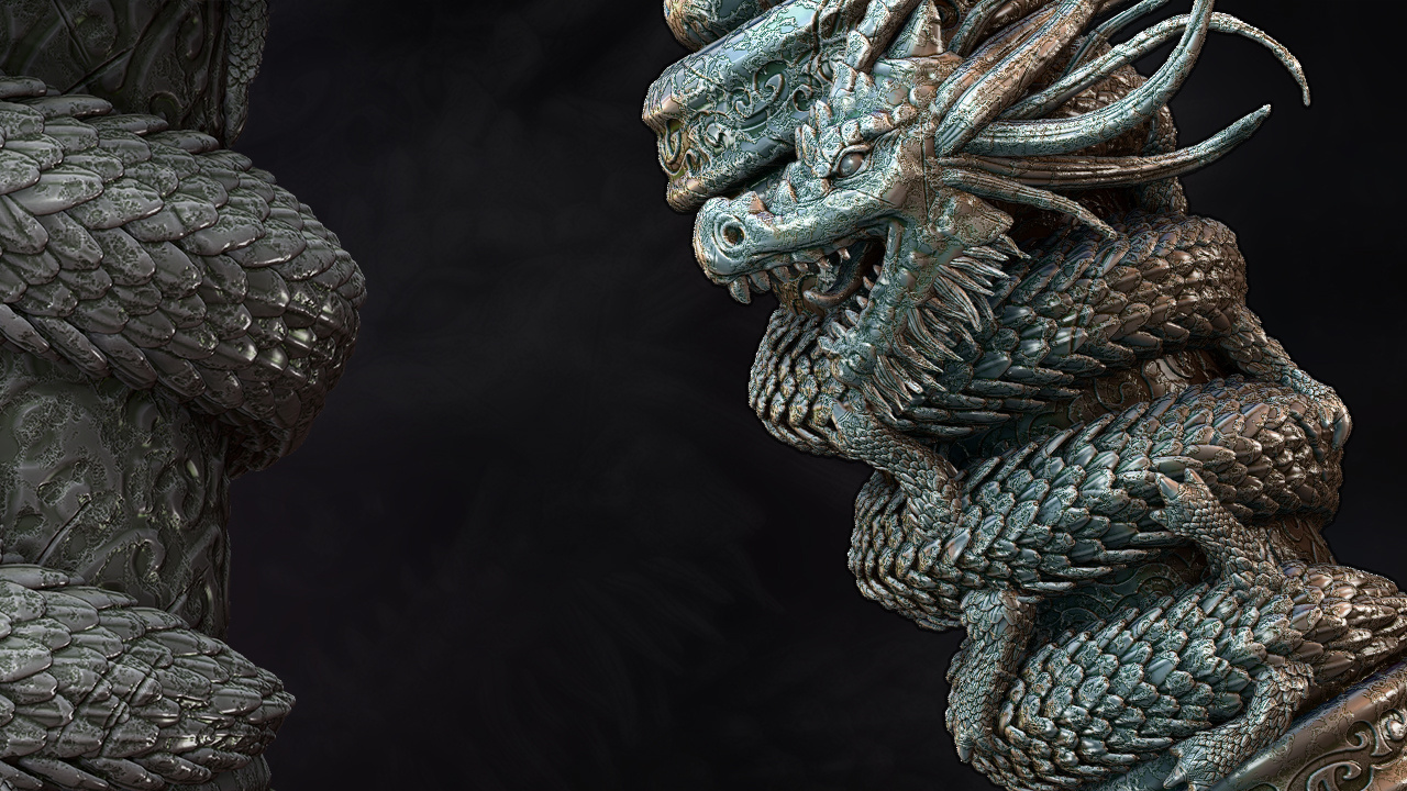 Sculpting a Dragon Scroll Asset in ZBrush | Pluralsight