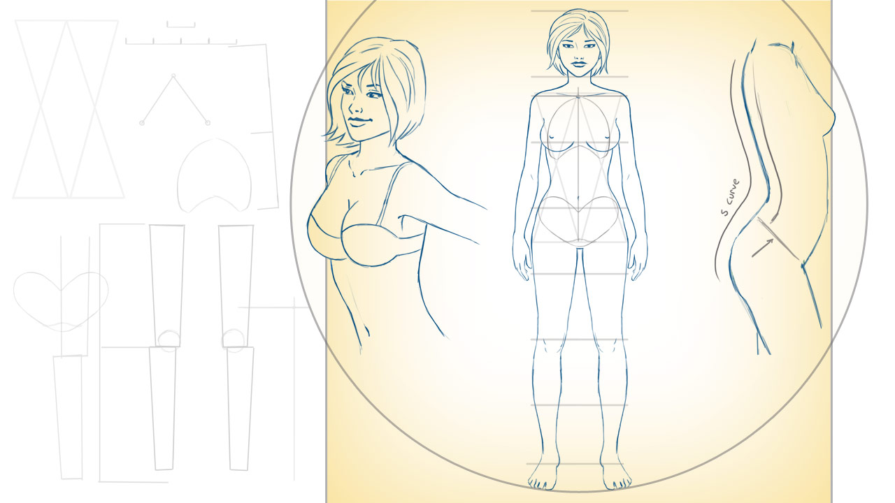 Drawing Female Proportions and Surface Anatomy | Pluralsight