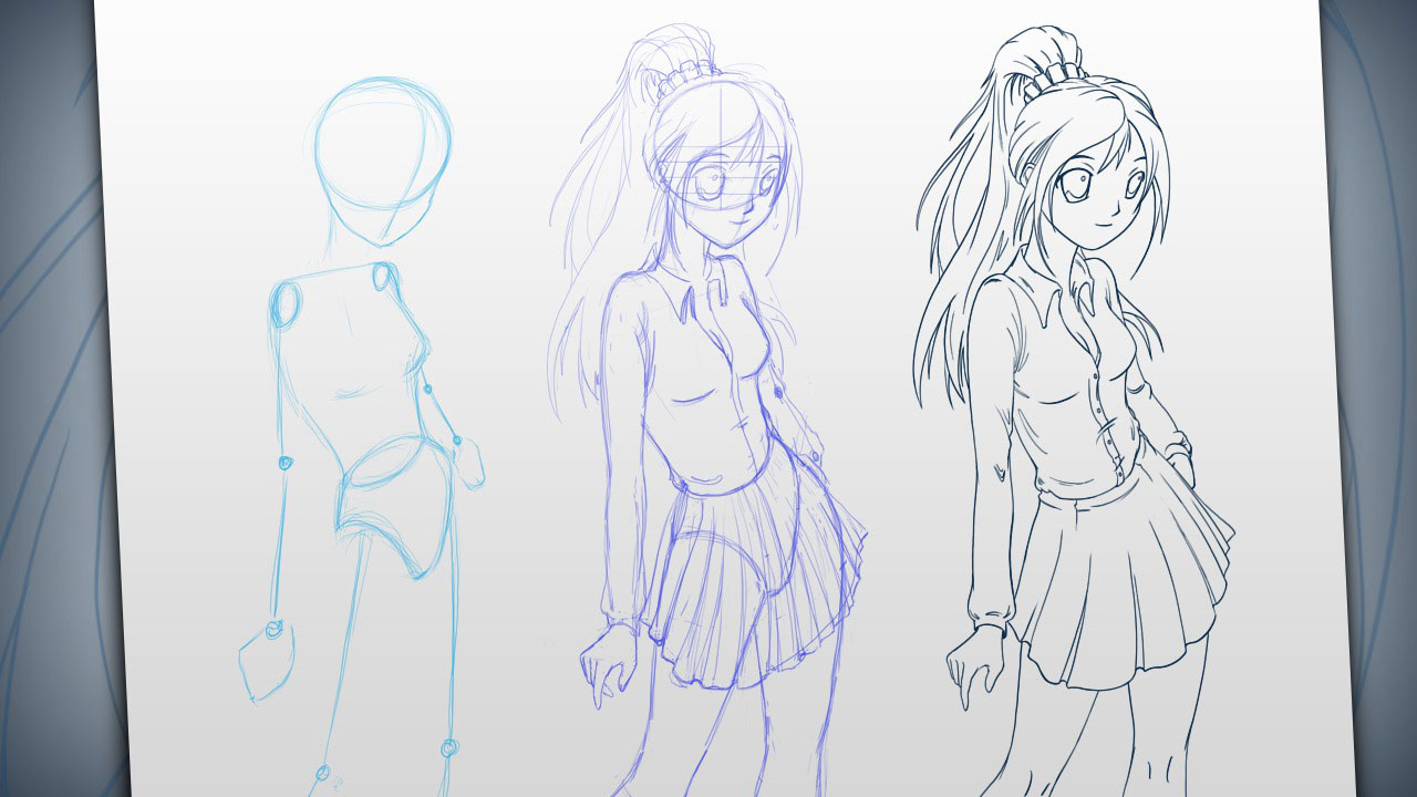 Drawing Manga Anatomy And Poses In Photoshop Pluralsight