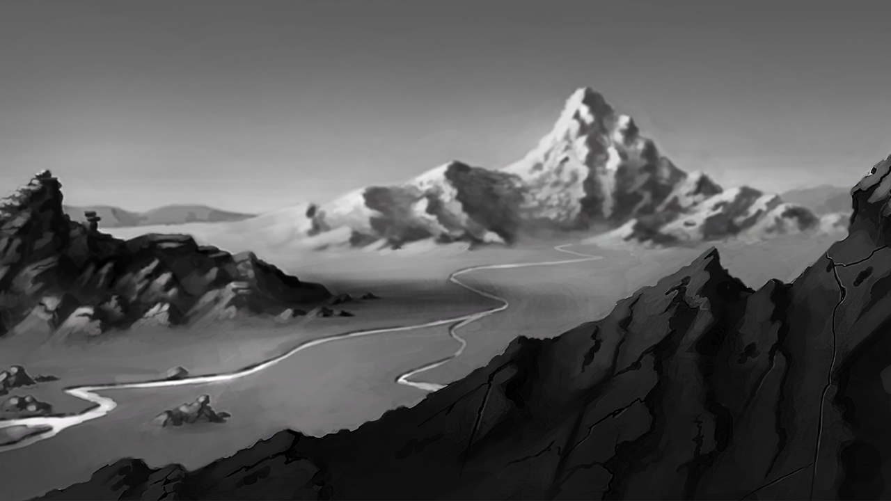 how to draw mountains in photoshop