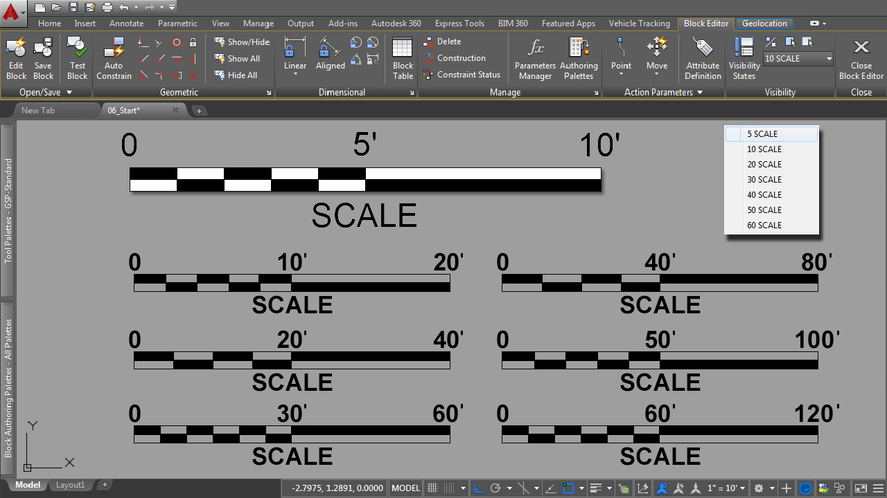 Creating Dynamic Blocks for Site Design Projects in AutoCAD
