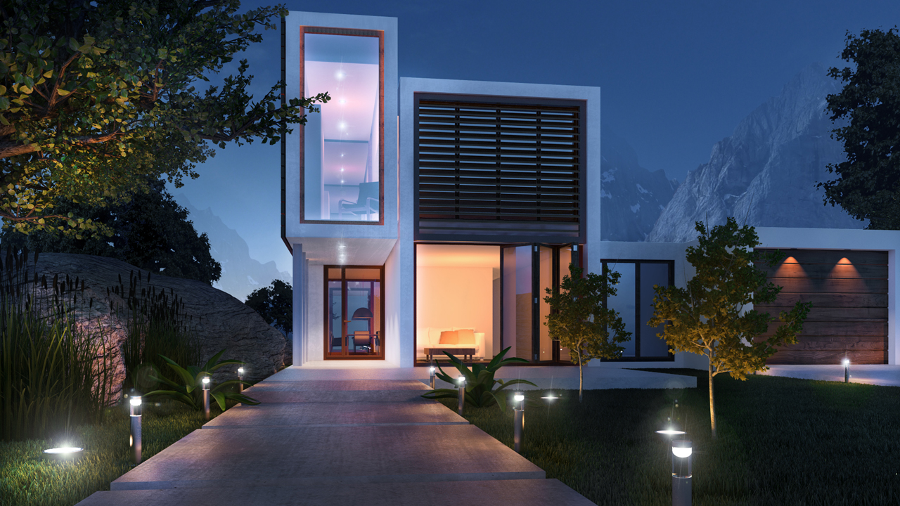 Creating exterior visualizations in 3ds max pluralsight for Exterior 3ds max model