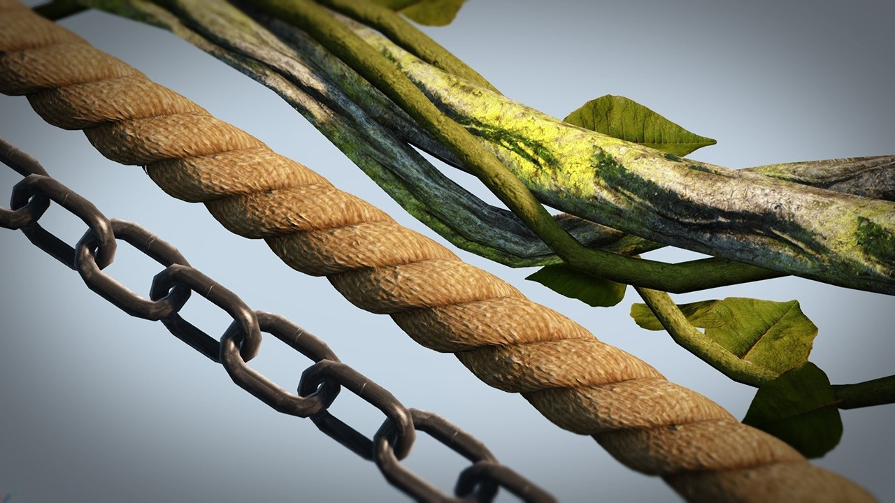 Creating Game-Ready Chains, Ropes, and Vines in Maya and UDK
