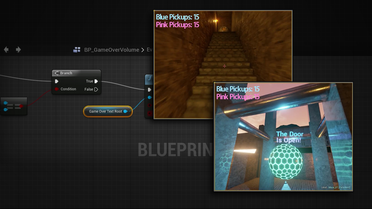 Creating Gameplay Systems using Blueprint Features in Unreal Engine