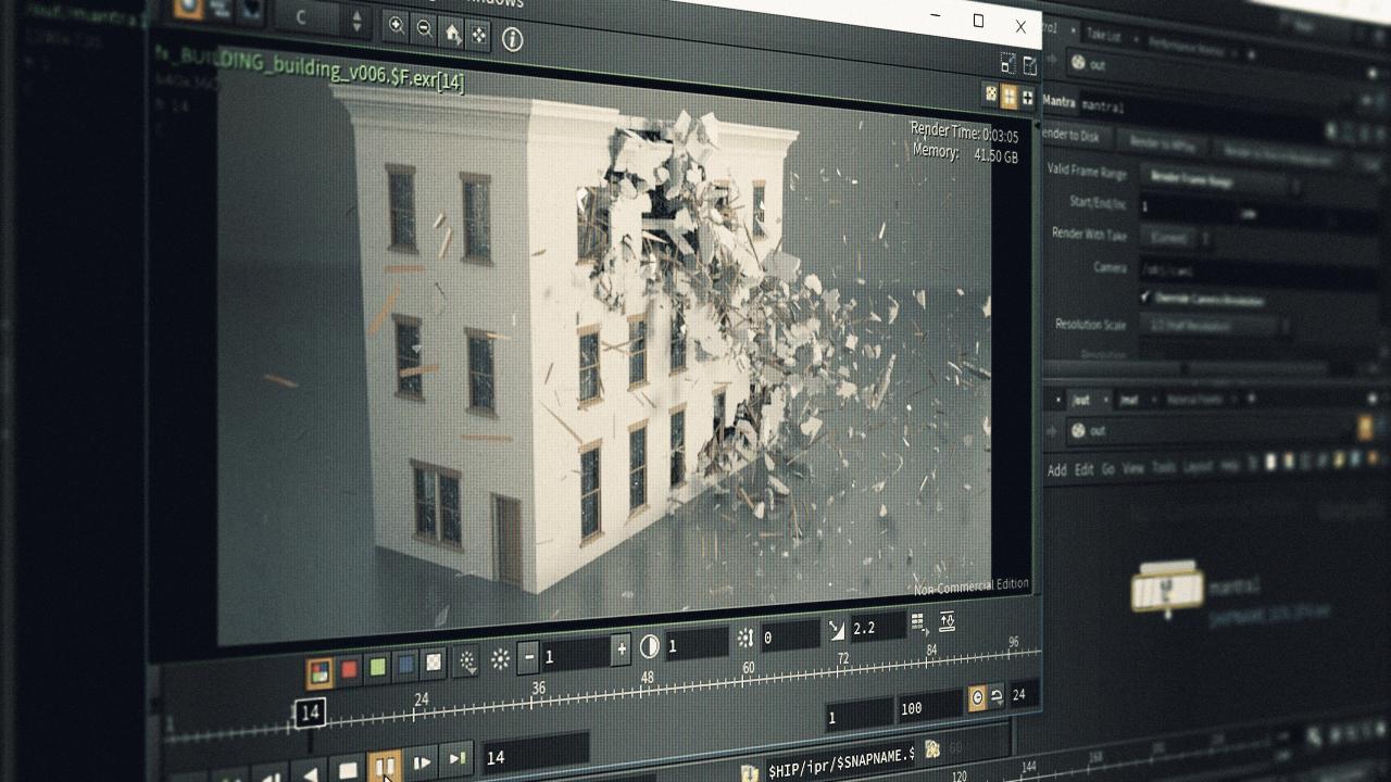 Architectural Destruction In Houdini Pluralsight
