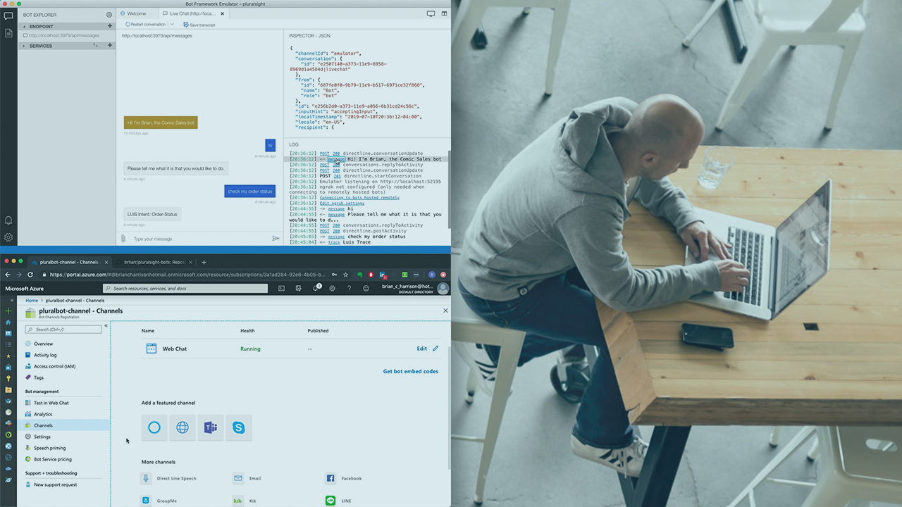 Implementing a Microsoft Azure AI Bot Framework Solution | Pluralsight