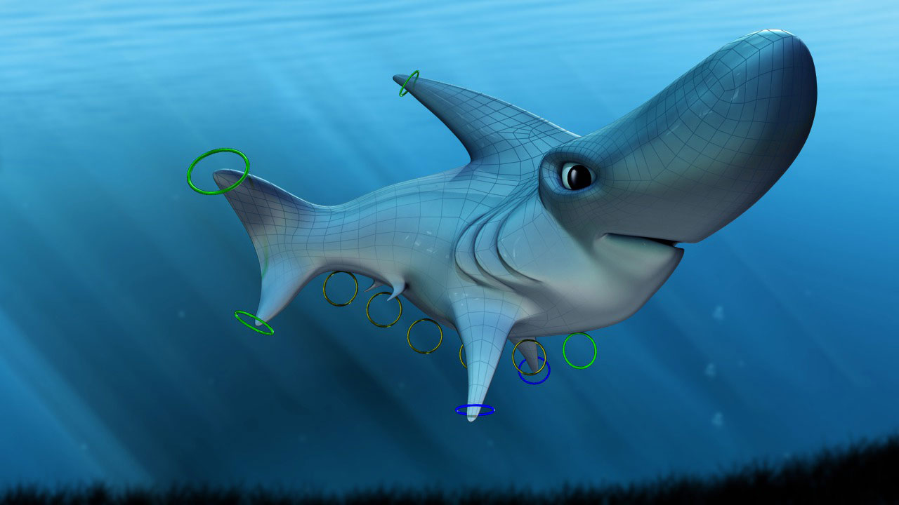 modeling and rigging a cartoon shark in 3ds max pluralsight