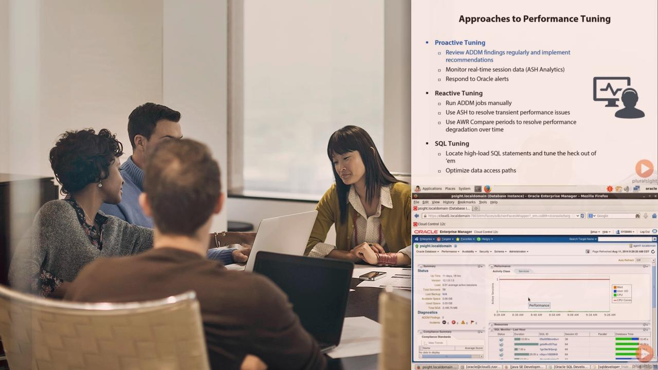 Oracle Database 12c Performance Tuning and Optimization   Pluralsight