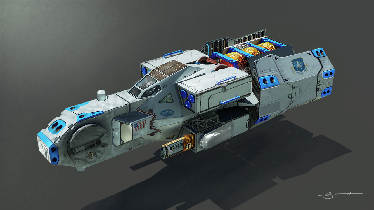 Painting Over a 3D Model for Vehicle Design in Photoshop