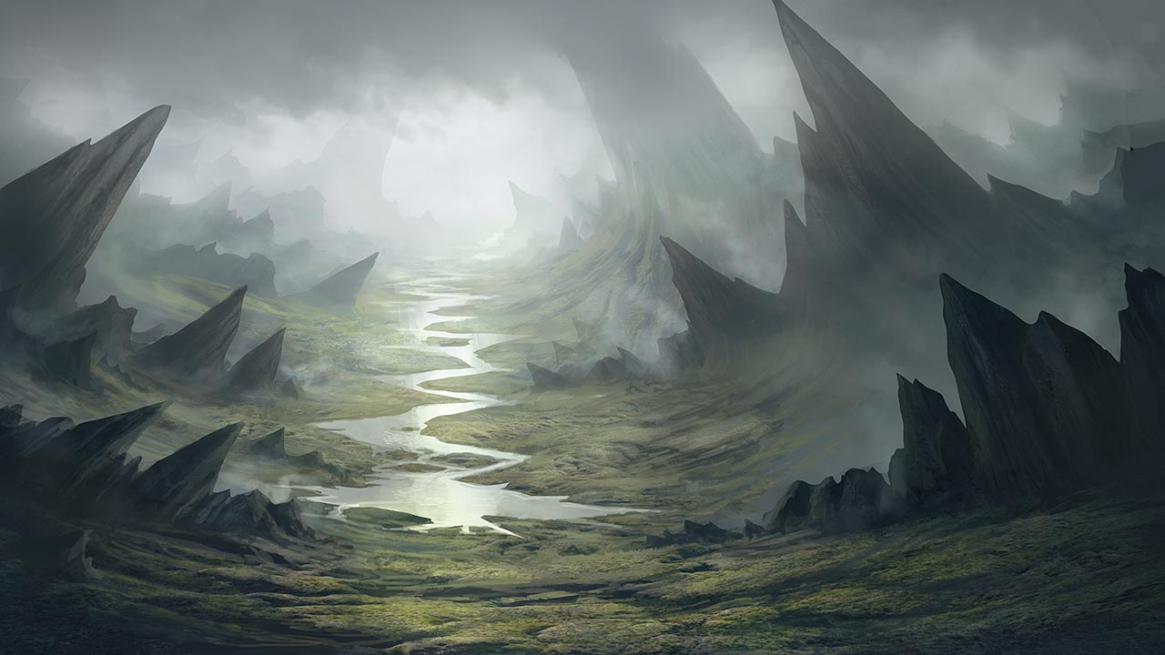 Painting A Fantasy Environment In Photoshop Pluralsight