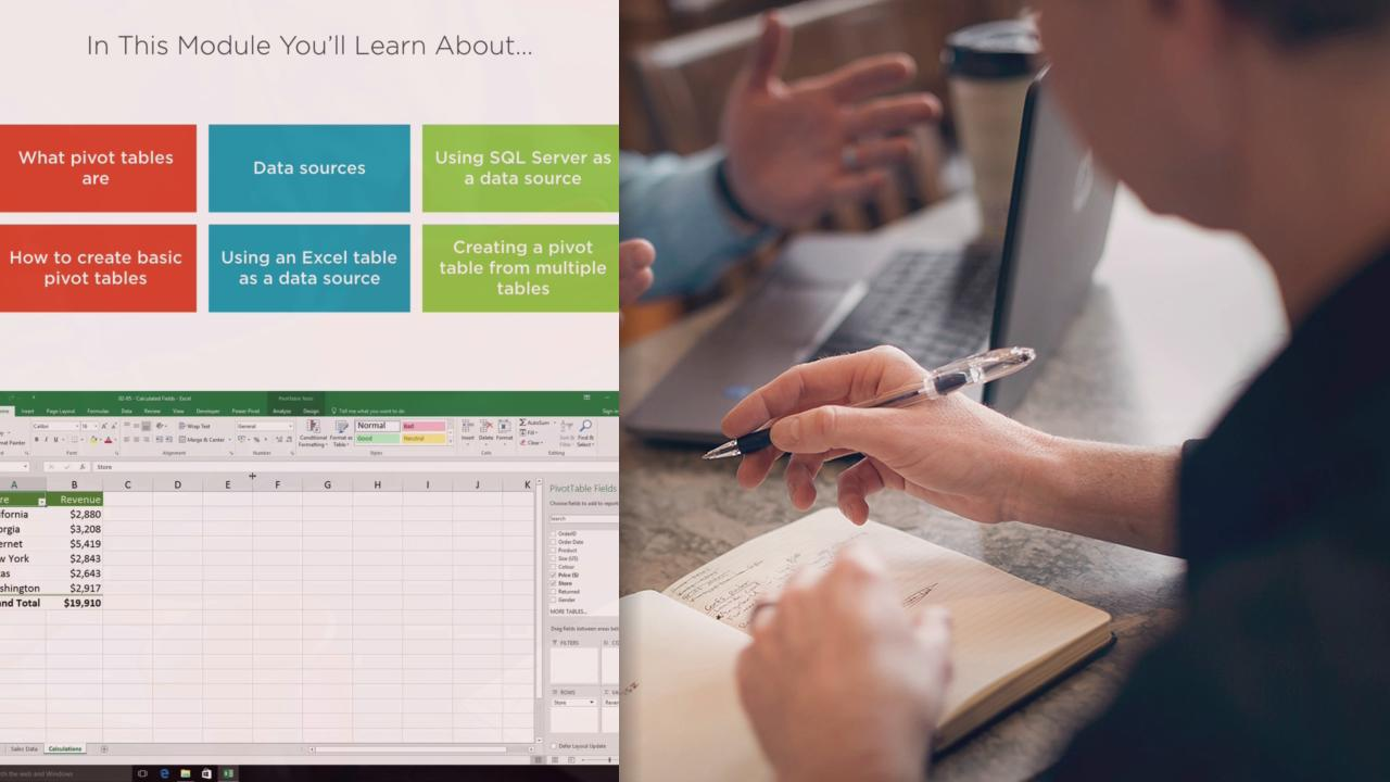 pivot tables for excel 2016 pluralsight