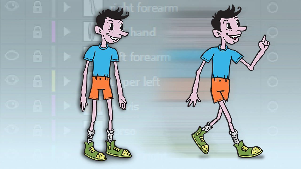 Creating a Poseable 2D Character in Illustrator | Pluralsight
