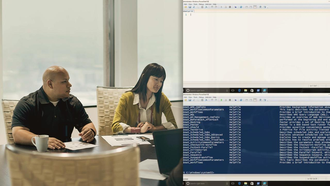 Your First Day with Windows PowerShell
