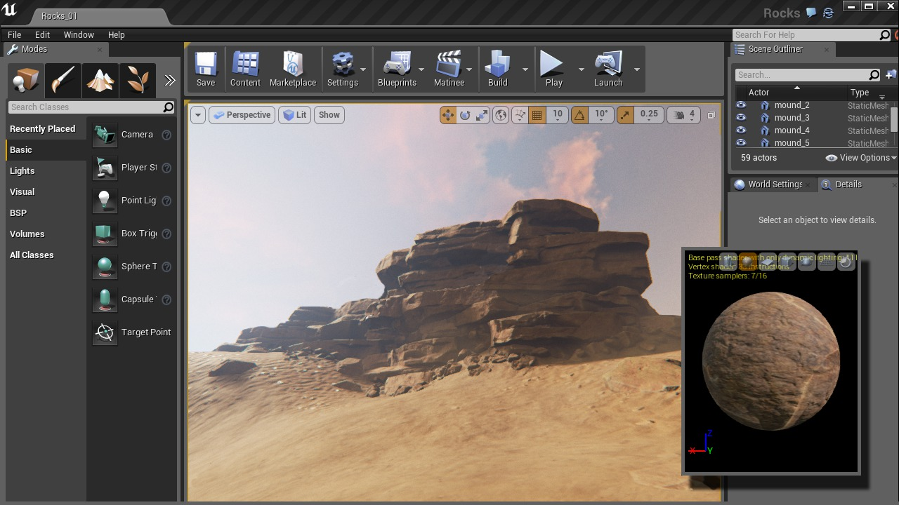 Creating Rock Structures for Games in ZBrush and Unreal
