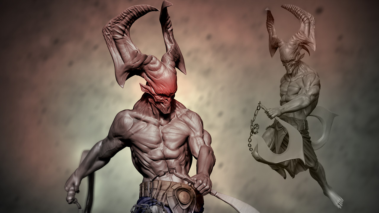 Sculpting a Demonic Creature in ZBrush | Pluralsight