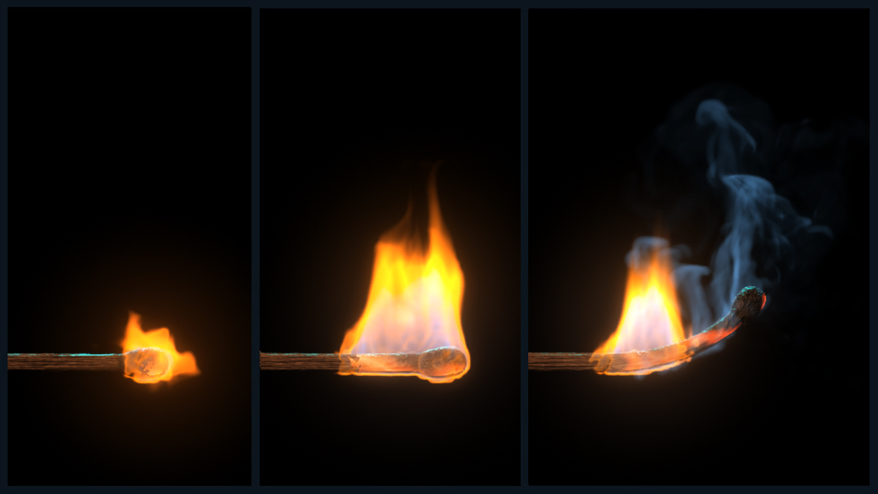 Simulating a Burning Matchstick Effect in Maya | Pluralsight