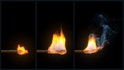 Simulating a Burning Matchstick Effect in Maya