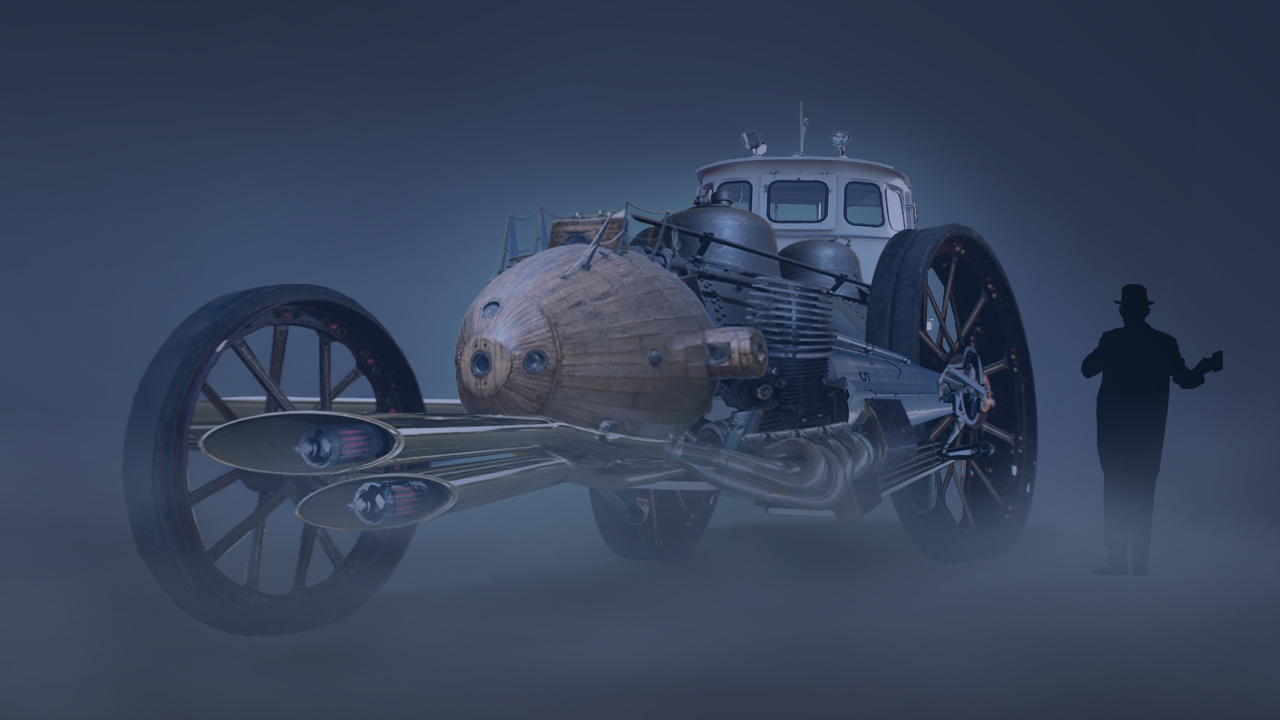 Creating A Steampunk Concept Vehicle In Photoshop Pluralsight