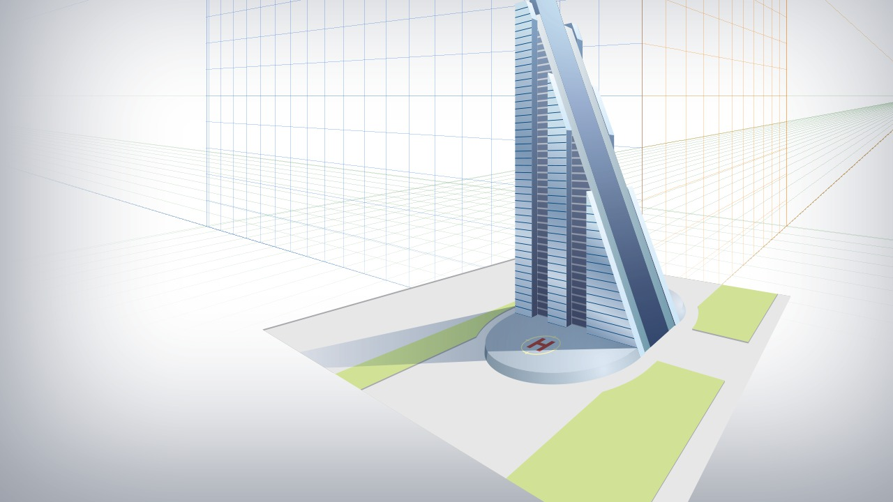 Architecture Drawing Illustrator understanding perspective drawing in illustrator | pluralsight