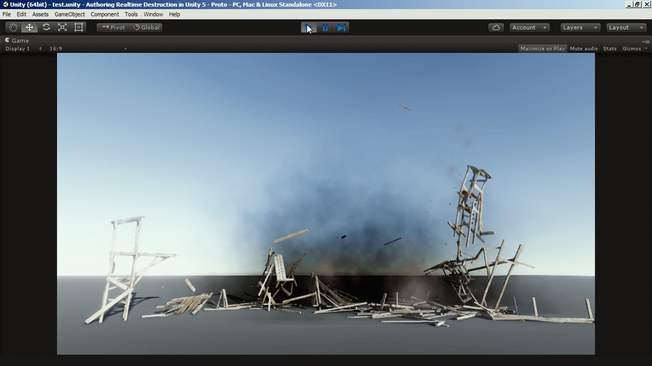 Authoring Real-time Destruction in Unity 5 | Pluralsight