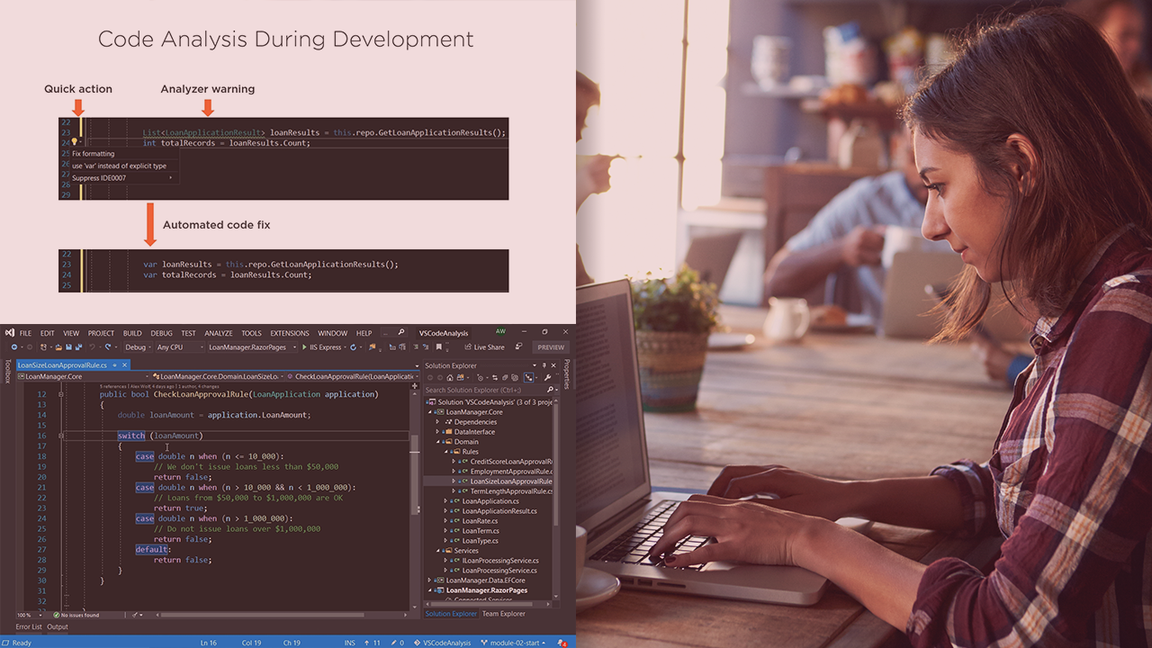 Code Analysis in Visual Studio 2019 | Pluralsight