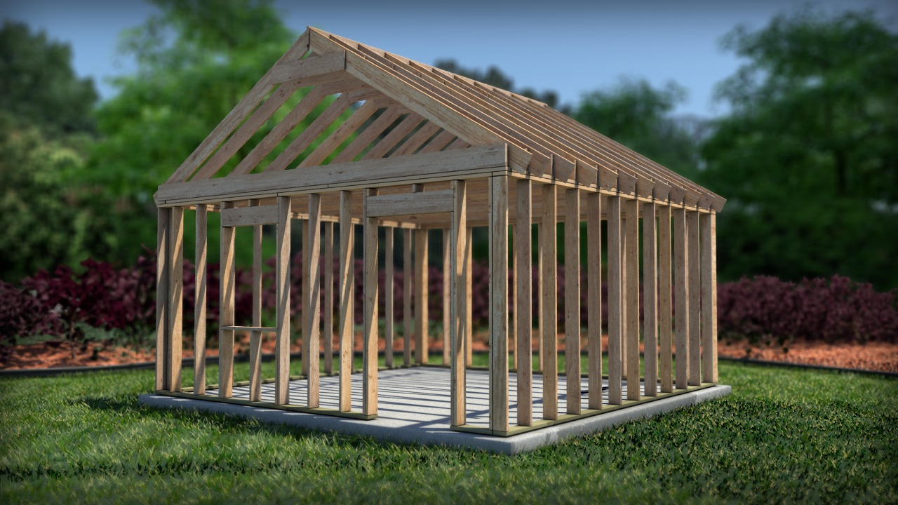 Creating a wood frame model in revit pluralsight for Software to model a house